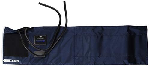 MABIS Sphygmomanometer Blood Pressure Replacement Cuff and Two-Tube Bladder, Large Adult, Blue