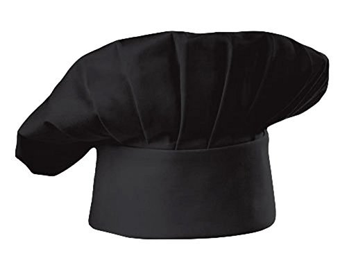 Chefskin Navy Blue Chef Hat Mushroom Style with Velcro