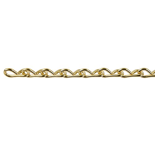 (Perfection Chain Products 54515 #18 Single Jack Chain, Brass Clean, 10 FT)