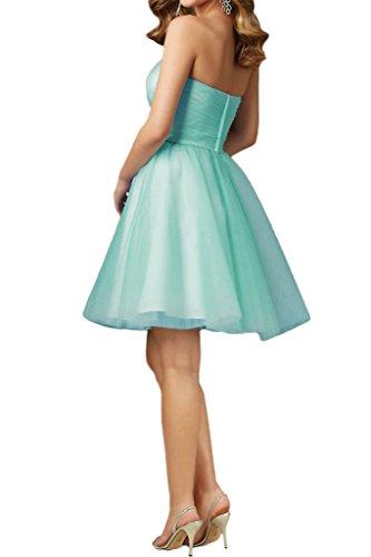 La_mia Braut Einfach Minze Gruen Traegerlos Abendkleider Partykleider Cocktailkleider Mini A-linie