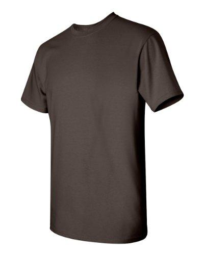 Courtes Chocolat Foncé T Gildan Manches Homme À Pour shirt qw8xtA07