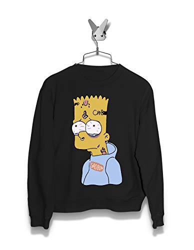 Women Sweatshirts | Tatoo Bart | The Simpsons | Streetwear | Black (Marge Simpson Sweatshirt)