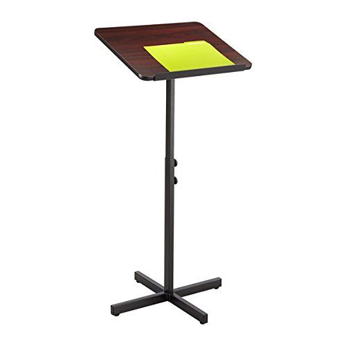 Displaysense Adjustable Height Lectern - Mahogany Finish