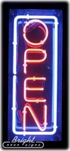 32 x 13 x 3 inches Vertical Neon Open Sign Made in USA