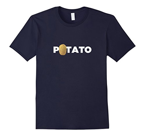 Mens Real Potato Funny Vegetable Food Funny Side Dish T-Shirt XL Navy