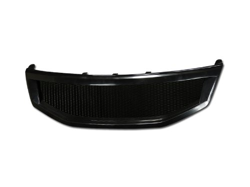 R&L Racing Black Aluminum Mesh Front Hood Bumper Grill Grille 2011-2012 Honda Accord 4D/4Dr (4dr Front Hood Grille)