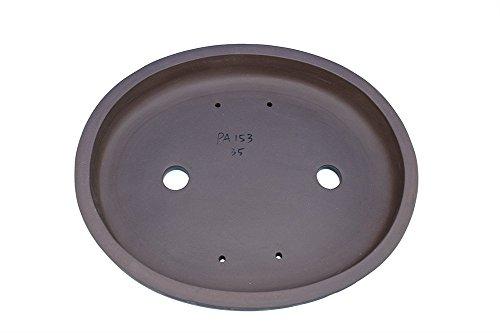Unglazed Large 18'' Oval Thin and Shallow Yixing Zisha Purple Clay Bonsai Pot (PA153-2)