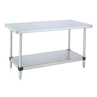 Metro WT306FS HD Super Stainless Steel 304 Standard Worktable with Bottom Shelf, 60″ Length x 30″ Width x 34″ Height