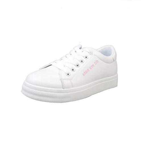 Cerrado Pink Gold Primavera ZHZNVX Heel PU Pink Comfort Black Poliuretano Verano Flat Mujer Sneakers Zapatos de 7xqwP67