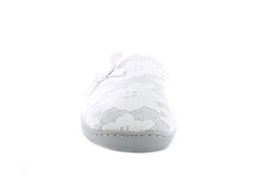Nuevo Mujer Gris Zapatos Sin Talón Estilo Zapatillas con lazo a delantero - Gris - GB Tallas 3-8