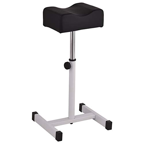 Giantex Pedicure Manicure Footrest W/Adjustable Seat Height Technician Nail Equipment Salon Spa (Black)
