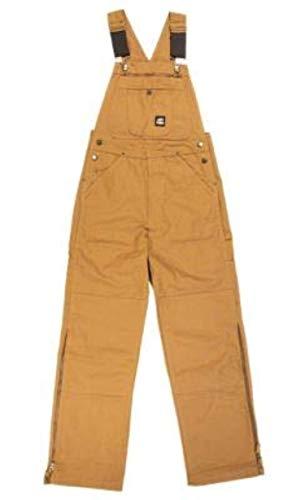(Work Bundle: Berne Original Unlined Duck Bib Overall Brown Duck 60X32 / R & Hook)