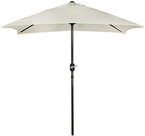 Aktive - Parasol rectangular Garden 1, 2 x 2 m - Mástil de aluminio 38 mm - Blanco roto (ColorBaby 53879): Amazon.es: Jardín