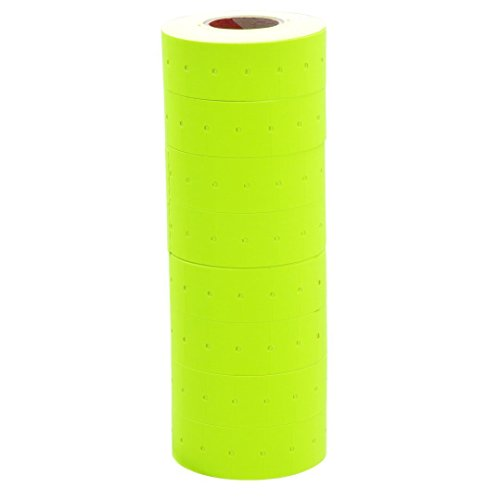 10 Rolls Yellow Fluorescent Color 10000 Price Labels Paper Fr Mx-5500 Price Gun Labeller ()