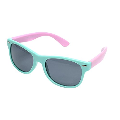 Sunglasses for Girls Ages 3-6 Polarized Sport Wayfarer Sun Glasses Mint Pink