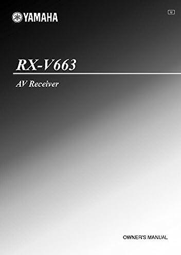yamaha rx v663 manual