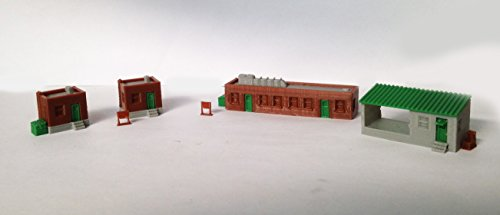Outland Models Train Railway Scenery Layout Factory Office Building Set Z Scale