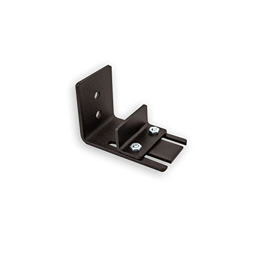 Wall Mount Floor Guide for Sliding Barn Door Hardware by Artisan Hardware Made In USA Powder Coated Black