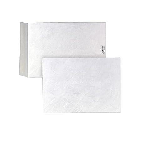 Tyvek Enveloppe autocollante indé chirable et impermé able avec film protecteur Blanc Format B5 176 x 250 mm - Lot de 100 Bong 11788