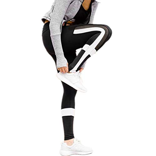 sweetnice Women's Stretchy Skinny Workout Leggings Capris Yoga Tights Sports Gym Fitness Pant Pants Black