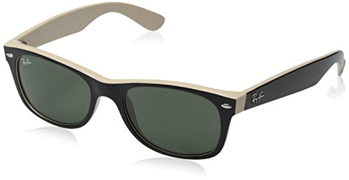 New Ray Ban RB2132 875 Black on Beige Frame/Crystal Green 52mm Sunglasses ()