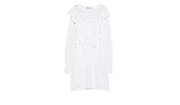 Zara Pointelle 6771/121/250 - Vestido de Punto para Mujer ...