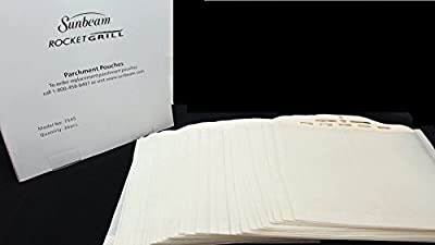 Sunbeam 7545 Rocket Grill Parchment Pouches, 36 Pack from Sunbeam