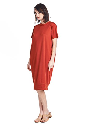 82 Jersey Comfortable Women's Rust Mid Styles Dresses Various Long 1 Days UnHBpU1