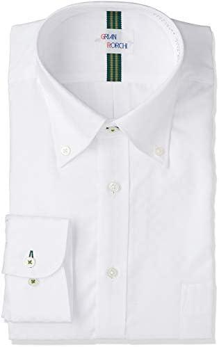 ビジネスワイシャツ デザイン 形態安定 メンズ 白10 日本 M-82 (日本サイズM相当)