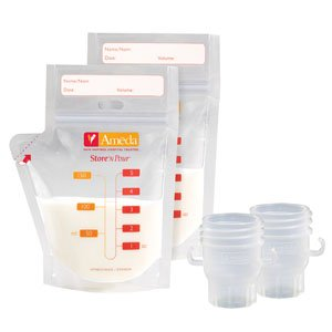 EW17242M - Ameda Store N Pour Getting Started Kit with 2 Adapters and 20 Freezer ()