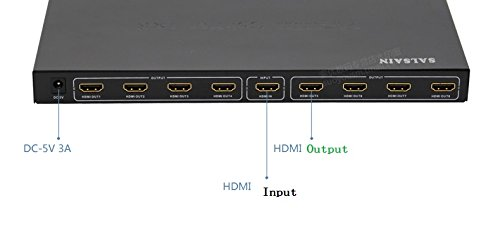Easyday 8 Ports 1 In 8 Out 1x8 HDMI Splitter Audio Video 1080P For Video For HD HDTV 3D