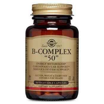 Solgar B-Complex Vegetable Capsules, 50 Count