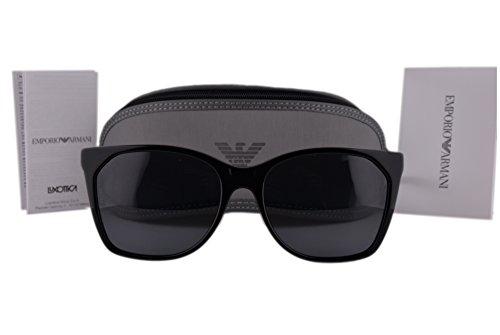 Emporio Armani EA4075 Sunglasses Black w/Gray Lens 501787 EA 4075 For - Armani Ea2036 Sunglasses Emporio