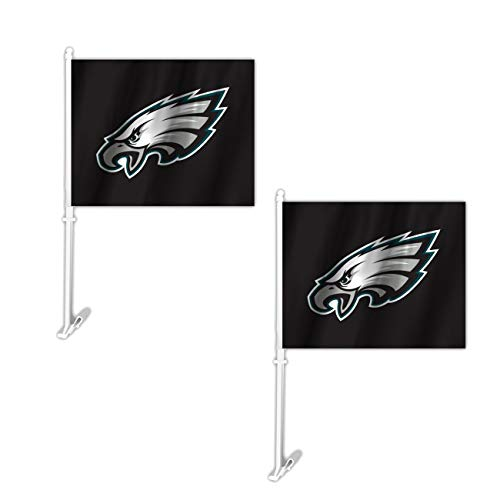 Philadelphia Eagles Window Flag - Official National Football League Fan Shop Authentic NFL 2-pack Car Window Flags. Show Team Pride with these 11.5