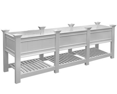 (New England Cambridge Grande Raised Planter Bed, 100