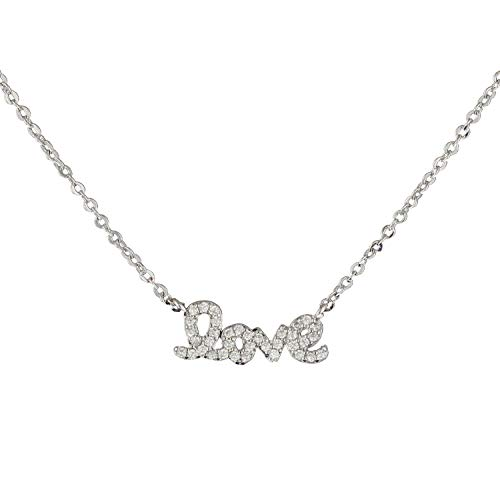 (Heart Made of Gold Love Necklace (Silver))