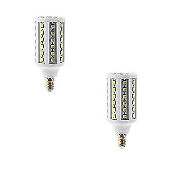 2pcs 15W E14 LED maíz luces T 86 SMD 5050 960 lm blanco cálido AC 22240V: Amazon.es: Iluminación