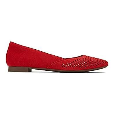 Vionic Womens Gem Posey Ballet Flat Red Size 9