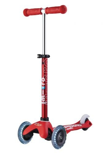 Micro Mini Deluxe LED Kick Scooter (Red)