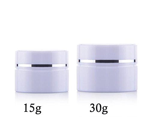 Green Cream Makeup Tube - 3PCS 15g Empty Refillable White Plastic Container Jars with White Lids and Inner for Travel Storage Makeup Cosmetic Lotion Scrubs Creams (15g)