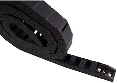 WNJ-TOOL, 1pc 10x15mm Semi Closed Nichtöffnungs Kunststoff Schleppkette Kabelschlepp Drahtträger mit Gelenken for CNC-Werkzeugmaschinen (Farbe : R28, Größe : 10x15 mm)
