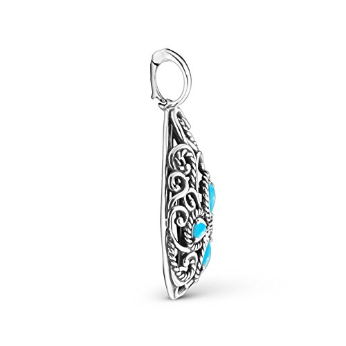 Carolyn Pollack Sterling Silver Sleeping Beauty Turquoise Pendant Enhancer by Carolyn Pollack (Image #1)