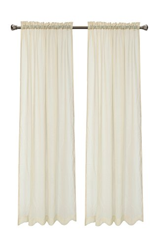Pack 2 Euphoria CaliTime Solid Faux Linen Sheers Window Curtains Panels 55 X 90 Inches, Taupe