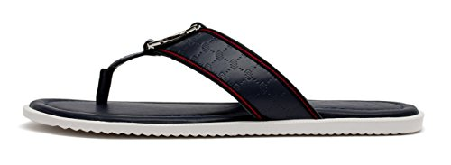 OPP Casual Men leather Flip Flops Flat Sandals Blue MCGEgZ