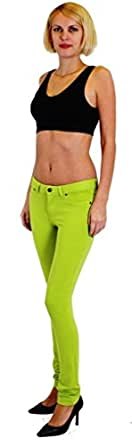 Dinamit Jeans Skinny Fit French Terry Brazilian Pants Bright Green S