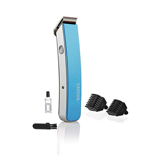 Nova NHT 1045 Rechargeable Cordless: 30 Minutes Runtime Beard Trimmer for Men  Blue