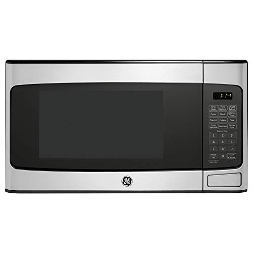 GE 1.1 Cu Ft Countertop Stainless Steel Microwave Oven JES1145SHSS (Renewed)