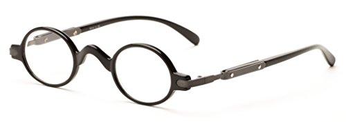 Readers.com The Sterling +2.50 Black Unique Round Half Frame Readers Reading - Frames Best Mens 2012 Glasses