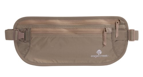 Eagle Creek Travel Gear Undercover Money Belt Dlx (Khaki), Outdoor Stuffs