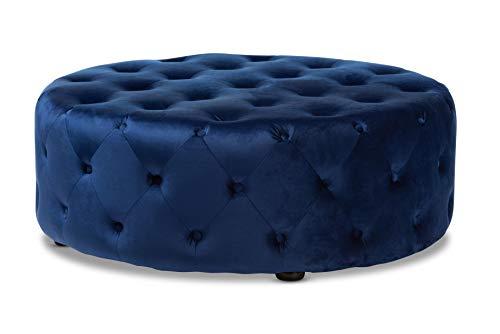 Baxton Studio 151-9357-AMZ Ottomans, Royal Blue